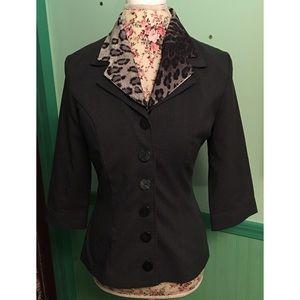 Vintage Brioche Blazer Leopard Collar M